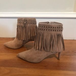 Ankle Boots with fringe (Mango)